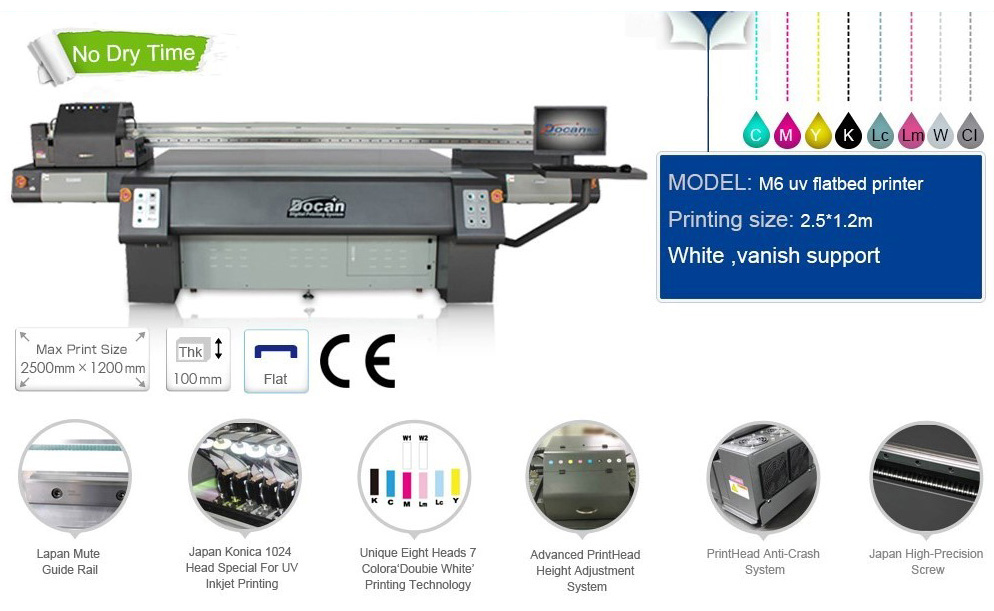 M6 flatbed UV Printer